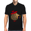 Awesome Funny Hedgehog Holding Daisy Flower Mens Polo