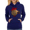 Awesome Funny Hedgehog Holding Daisy Flower Womens Hoodie
