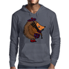 Awesome Funny Hedgehog is Playing the Bagpipes Mens Hoodie