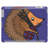 Awesome Funny Hedgehog is Playing the Bagpipes Tablet