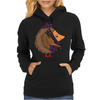 Awesome Funny Hedgehog is Playing the Bagpipes Womens Hoodie