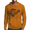 Awesome Funny Hedgehog with Tennis Racket Mens Hoodie