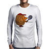 Awesome Funny Hedgehog with Tennis Racket Mens Long Sleeve T-Shirt