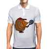 Awesome Funny Hedgehog with Tennis Racket Mens Polo