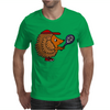 Awesome Funny Hedgehog with Tennis Racket Mens T-Shirt