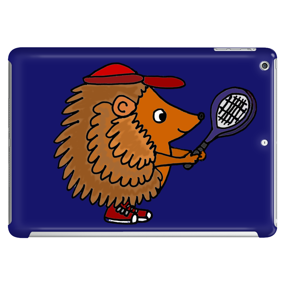 Awesome Funny Hedgehog with Tennis Racket Tablet