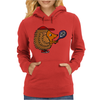 Awesome Funny Hedgehog with Tennis Racket Womens Hoodie