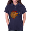 Awesome Funny Hedgehog with Tennis Racket Womens Polo