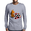 Awesome Funny Horse Playing Chess Art Mens Long Sleeve T-Shirt