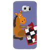 Awesome Funny Horse Playing Chess Art Phone Case