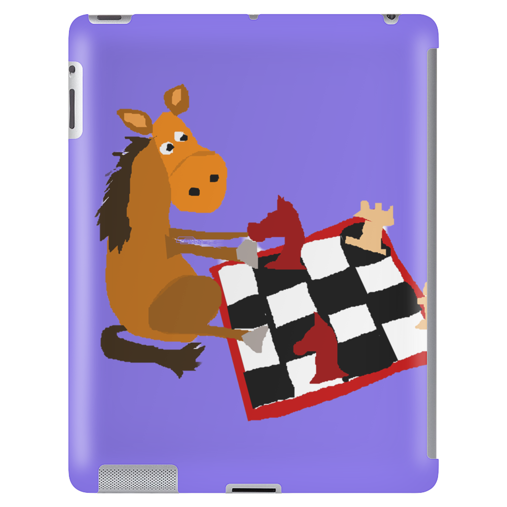 Awesome Funny Horse Playing Chess Art Tablet