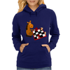 Awesome Funny Horse Playing Chess Art Womens Hoodie