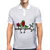 Awesome Funny Hummingbird Sipping Nectar with Straw Art Mens Polo