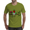 Awesome Funny Hummingbird Sipping Nectar with Straw Art Mens T-Shirt