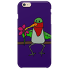 Awesome Funny Hummingbird Sipping Nectar with Straw Art Phone Case
