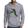 Awesome Funny Hummingbird with Wine Glass Mens Hoodie