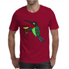 Awesome Funny Hummingbird with Wine Glass Mens T-Shirt