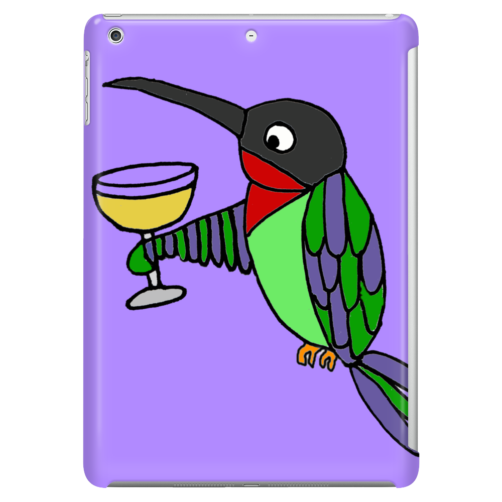 Awesome Funny Hummingbird with Wine Glass Tablet