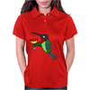 Awesome Funny Hummingbird with Wine Glass Womens Polo