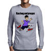 Awesome Funny Jogging Vulcan Cartoon Mens Long Sleeve T-Shirt