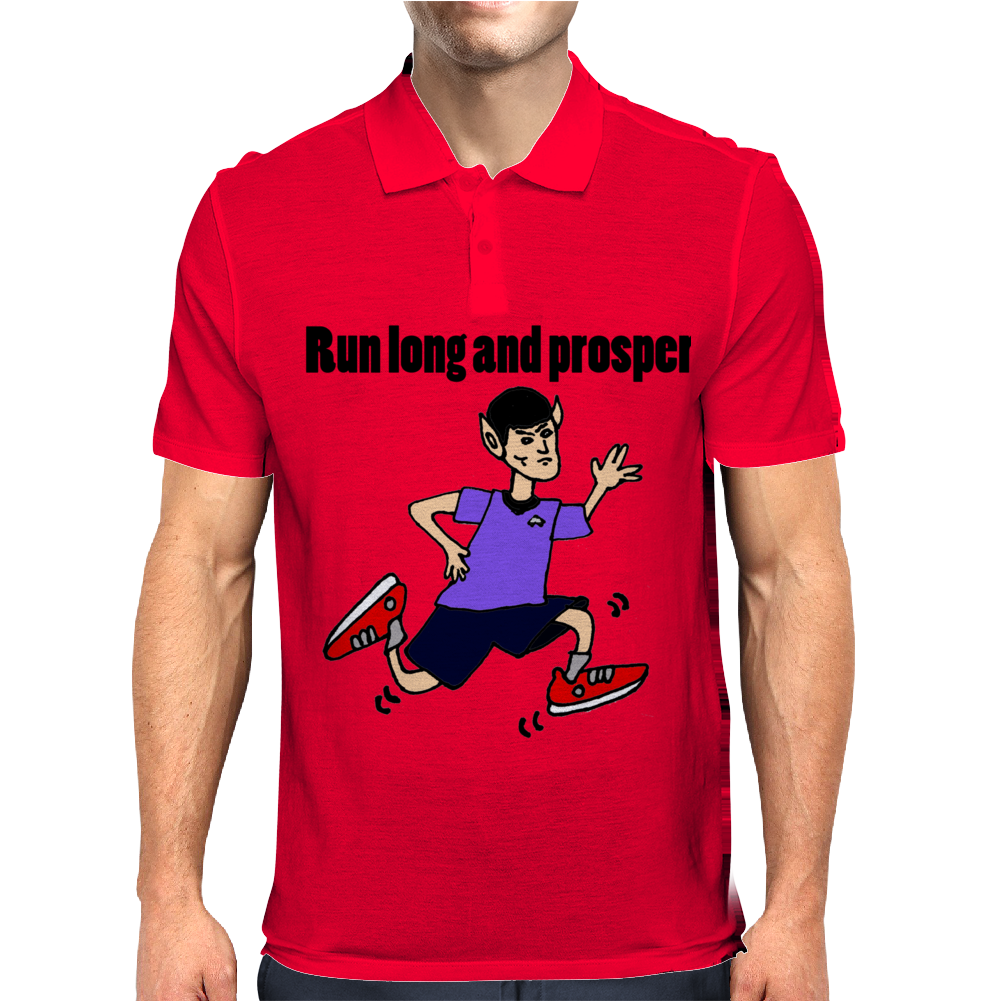 Awesome Funny Jogging Vulcan Cartoon Mens Polo