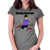 Awesome Funny Jogging Vulcan Cartoon Womens Fitted T-Shirt