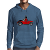 Awesome Funny Ladybug Driving Red and Black Bug Convertible Mens Hoodie