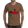 Awesome Funny Ladybug Driving Red and Black Bug Convertible Mens T-Shirt