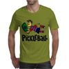 Awesome funny leaping pickleball dude Mens T-Shirt