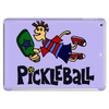 Awesome funny leaping pickleball dude Tablet