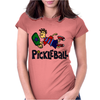 Awesome funny leaping pickleball dude Womens Fitted T-Shirt
