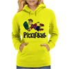 Awesome funny leaping pickleball dude Womens Hoodie