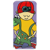 Awesome Funny Little Boy Hugging Pet Dinosaur Phone Case