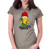 Awesome Funny Little Boy Hugging Pet Dinosaur Womens Fitted T-Shirt