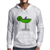 Awesome Funny Margarita Glass with Shark Fin Mens Hoodie