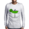 Awesome Funny Margarita Glass with Shark Fin Mens Long Sleeve T-Shirt