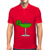 Awesome Funny Margarita Glass with Shark Fin Mens Polo