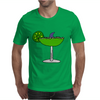 Awesome Funny Margarita Glass with Shark Fin Mens T-Shirt