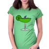 Awesome Funny Margarita Glass with Shark Fin Womens Fitted T-Shirt