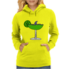 Awesome Funny Margarita Glass with Shark Fin Womens Hoodie