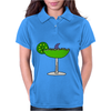 Awesome Funny Margarita Glass with Shark Fin Womens Polo