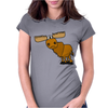 Awesome Funny Moose Cartoon Womens Fitted T-Shirt