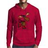 Awesome Funny Moose Ice Skating Art Mens Hoodie