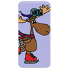 Awesome Funny Moose Ice Skating Art Phone Case
