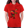 Awesome Funny Moose Ice Skating Art Womens Polo