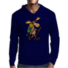 Awesome Funny Moose is Hiking Mens Hoodie
