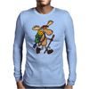 Awesome Funny Moose is Hiking Mens Long Sleeve T-Shirt