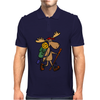 Awesome Funny Moose is Hiking Mens Polo
