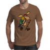 Awesome Funny Moose is Hiking Mens T-Shirt