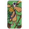 Awesome Funny Moose is Hiking Phone Case